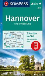 KOMPASS Wanderkarte KOMPASS Wanderkarten-Set: Hannover und Umgebung - Wanderkarten-Set mit Naturführer in der Schutzhüll