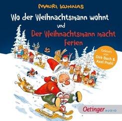 Wo der Weihnachtsmann wohnt und Der Weihnachtsmann macht Ferien, 1 Audio-CD