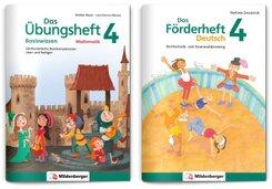 Sicher ins 5. Schuljahr - Sparpaket: Förderprogramm Rechnen - Schreiben - Grammatik · Klasse 4, 2 Teile
