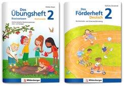 Sicher ins 3. Schuljahr - Sparpaket: Förderprogramm Rechnen - Schreiben - Grammatik · Klasse 2, 2 Teile