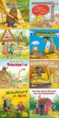 Pixi Bücher: Pixis Fahrzeuge auf der Baustelle, 8 Hefte