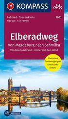 Fahrrad-Tourenkarte Elberadweg 1, Von Schmilka nach Magdeburg
