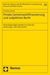 Private Gemeinwohlfinanzierung und subjektives Recht