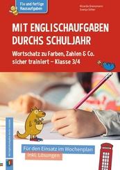 Mit Englischaufgaben durchs Schuljahr - Wortschatz zu Farben, Zahlen & Co. sicher trainiert - Klasse 3/4