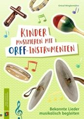 Kinder musizieren mit Orff-Instrumenten