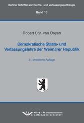 Demokratische Staats- und Verfassungslehre der Weimarer Republik