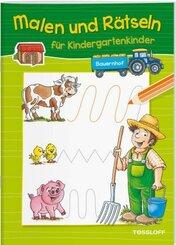 Malen und Rätseln für Kindergartenkinder. Bauernhof