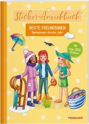 Sticker-Anziehbuch. Beste Freundinnen.Gemeinsam durchs Jahr.