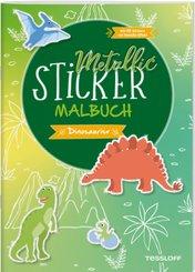 Metallic-Sticker Malbuch. Dinosaurier