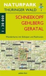 Wanderkarte Schneekopf/Gehlberg/Gräfenroda