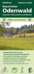 Radfahren, Bayerischer Odenwald / Hessischer Odenwald-Ost und Maintal, m. 1 Buch