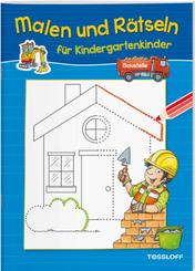 Malen und Rätseln für Kindergartenkinder. Baustelle
