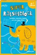 Super Rätselblock ab 7 Jahren.Suchbilder, Labyrinthe, Sudokus und viele andere Rätsel