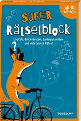 Super Rätselblock ab 10 Jahren.Logicals, Brückenrätsel, Zahlenpyramiden und viele andere Rätsel