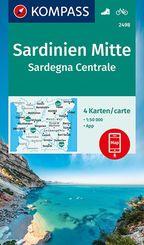 KOMPASS Wanderkarte Sardinien Mitte, Sardegna Centrale