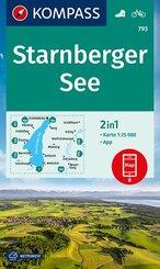 KOMPASS Wanderkarte Starnberger See