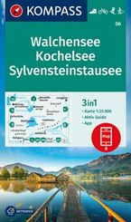 KOMPASS Wanderkarte Walchensee, Kochelsee, Sylvensteinstausee
