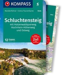 KOMPASS Wanderführer Schluchtensteig, mit Hotzenwaldquerweg, Hochrhein-Höhenweg und Ostweg