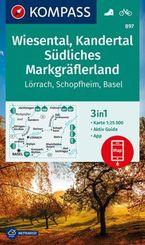 KOMPASS Wanderkarte Wiesental, Kandertal, Südliches Markgräflerland