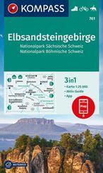 KOMPASS Wanderkarte Elbsandsteingebirge, Nationalpark Sächsische Schweiz, Nationalpark Böhmische Schweiz