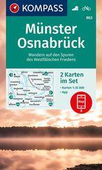 KOMPASS Wanderkarte Münster, Osnabrück
