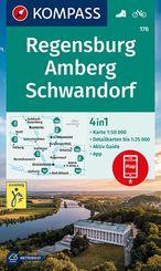KOMPASS Wanderkarte Regensburg, Amberg, Schwandorf