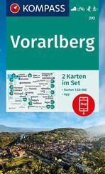 KOMPASS Wanderkarte Vorarlberg