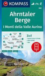 KOMPASS Wanderkarte Ahrntaler Berge, I Monti della Valle Aurina