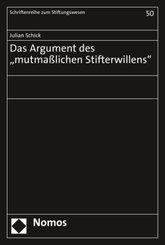 """Das Argument des """"mutmaßlichen Stifterwillens"""""""