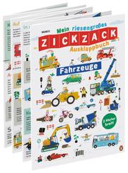 Mein riesengroßes ZICKZACK Ausklappbuch - Fahrzeuge