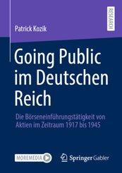Going Public im Deutschen Reich