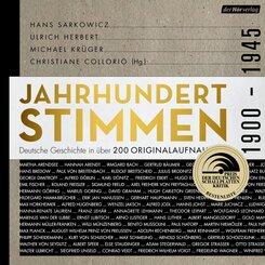 Jahrhundertstimmen 1900-1945 - Deutsche Geschichte in über 200 Originalaufnahmen, 3 Audio-CD, 3 MP3