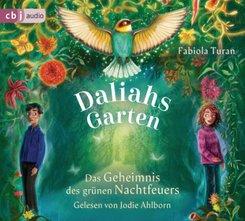 Daliahs Garten - Das Geheimnis des grünen Nachtfeuers, 4 Audio-CD