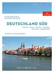 Planungskarte Wasserstraßen Deutschland Süd