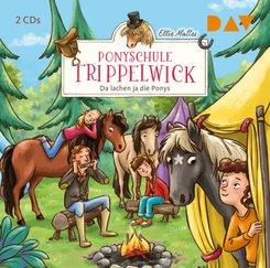 Ponyschule Trippelwick - Teil 5: Da lachen ja die Ponys, 2 Audio-CD