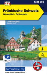 Fränkische Schweiz Outdoorkarte Deutschland Nr. 37