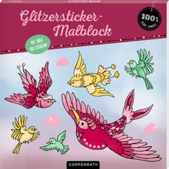 Glitzersticker-Malblock