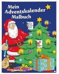 Mein Adventskalender-Malbuch
