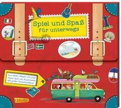 Spiel und Spaß für unterwegs (Buch-Set in Kofferform)