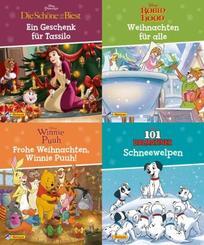 Nelson Mini-Bücher: 4er Disney Weihnachten 1-4