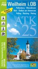 ATK25-P09 Weilheim i.OB (Amtliche Topographische Karte 1:25000)