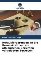 Herausforderungen an die Beweiskraft von vor äthiopischen Gerichten vorgelegten Beweisen
