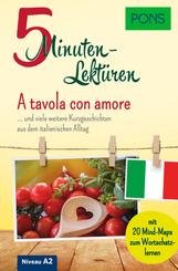 PONS 5-Minuten-Lektüre Italienisch A2 - A tavola con amore
