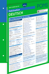 PONS Deklination Deutsch auf einen Blick