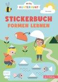 Mini Kunterbunt -Mein erstes Formen-Stickerbuch für Kinder ab 3 Jahren