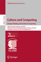 Culture and Computing. Design Thinking and Cultural Computing