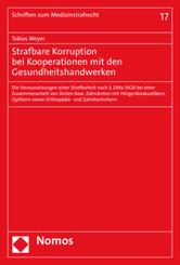 Strafbare Korruption bei Kooperationen mit den Gesundheitshandwerken