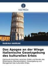 Das Apogee an der Wiege Italienische Gesetzgebung des kulturellen Erbes