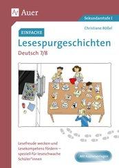 Einfache Lesespurgeschichten Deutsch 7-8