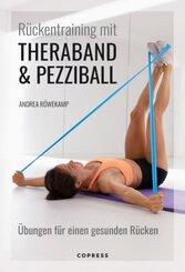 Rückentraining mit Theraband und Pezziball. Übungen für einen gesunden Rücken
